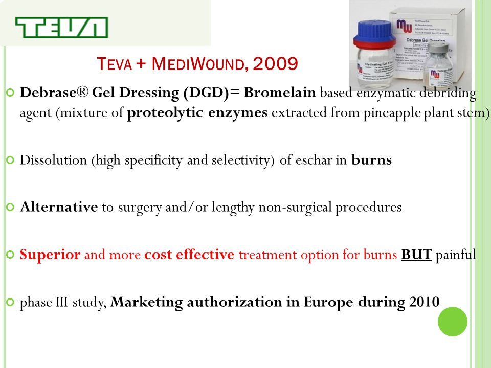Teva + MediWound, 2009