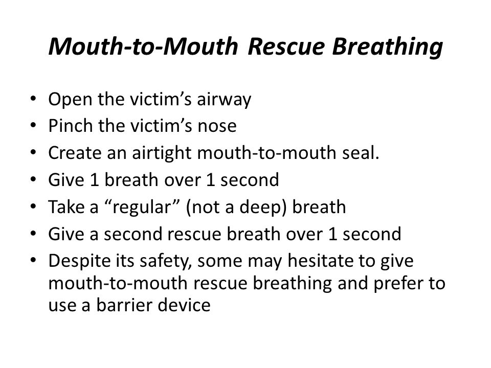 Mouth-to-Mouth Rescue Breathing