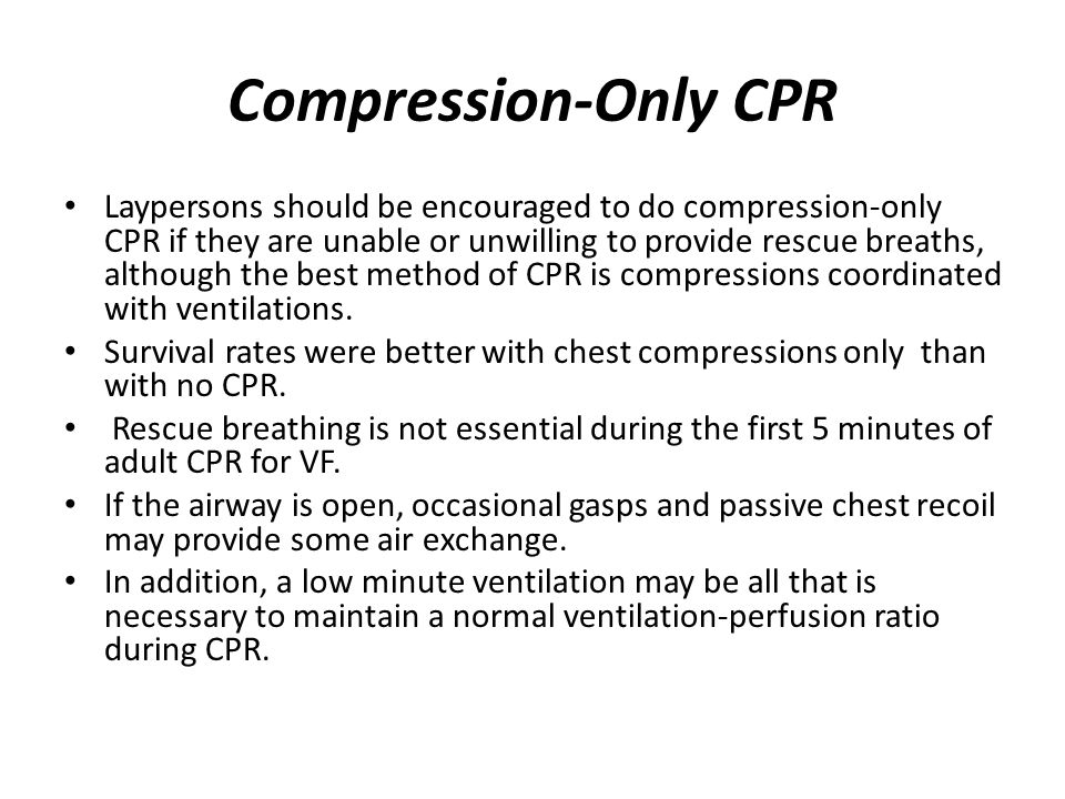 Compression-Only CPR