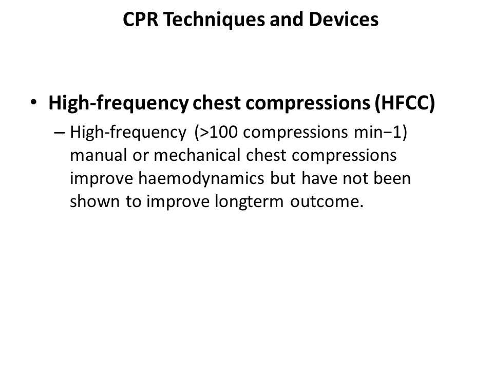 CPR Techniques and Devices