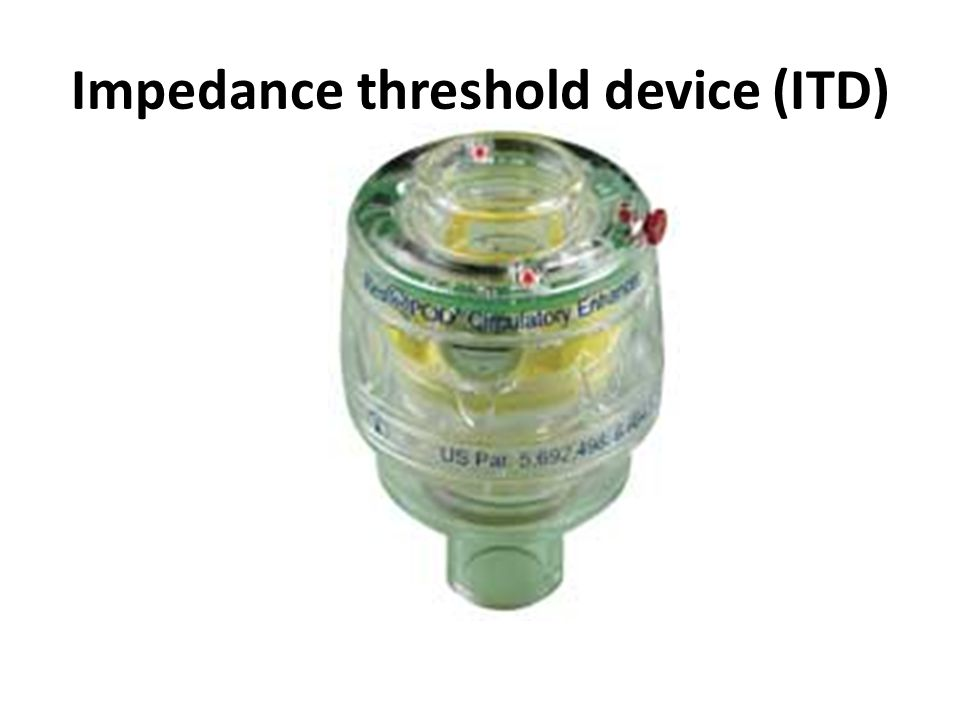 Impedance threshold device (ITD)