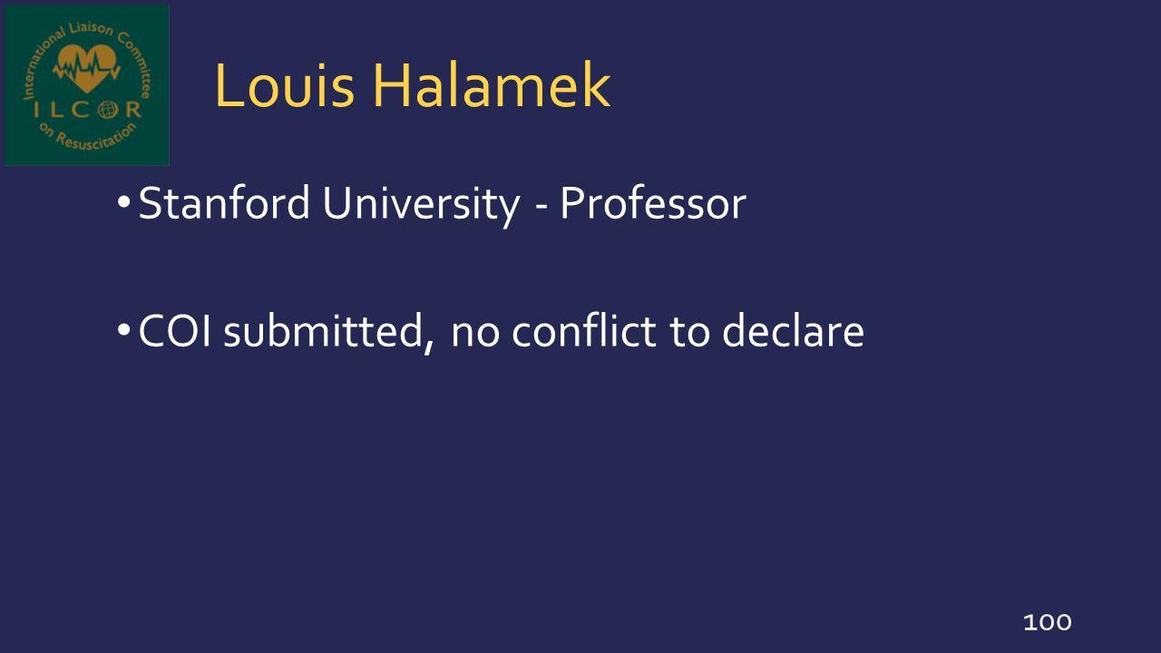 Louis Halamek Stanford University - Professor
