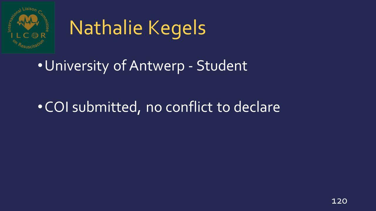 Nathalie Kegels University of Antwerp - Student