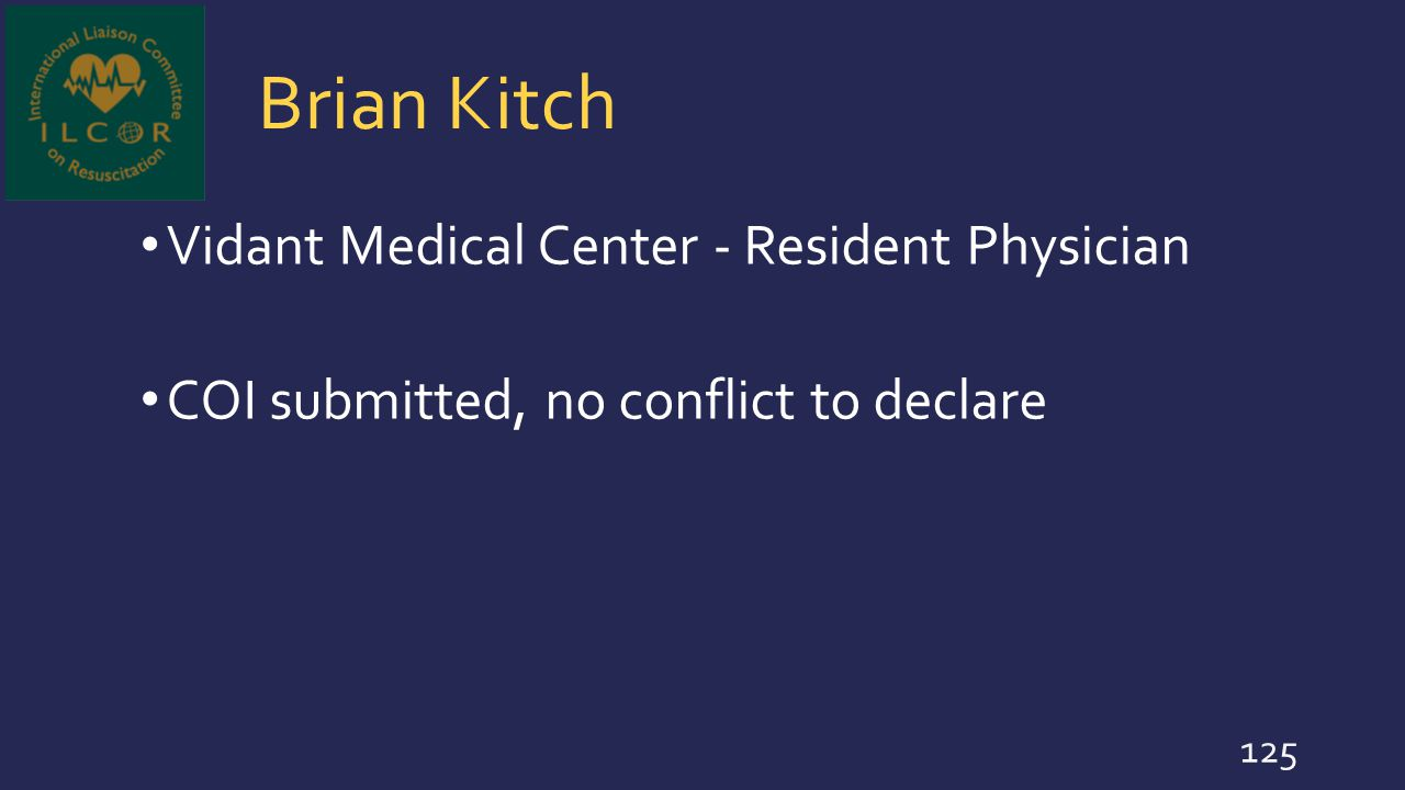 Brian Kitch Vidant Medical Center - Resident Physician