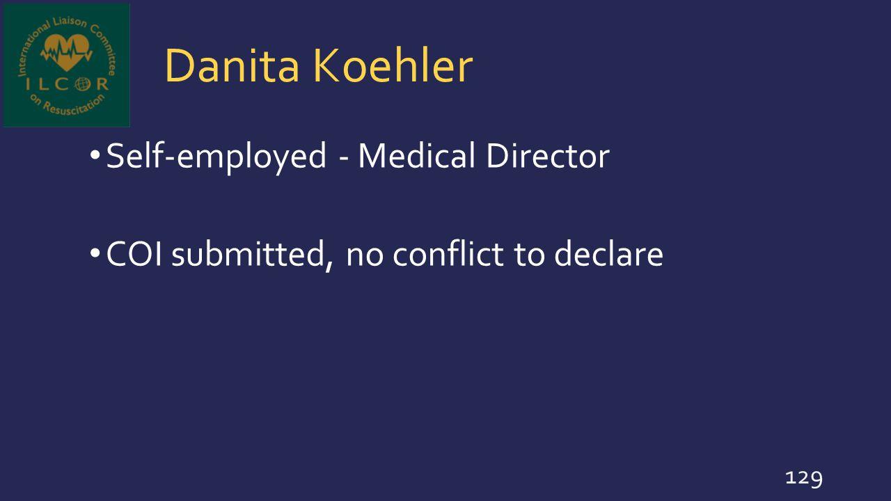 Danita Koehler Self-employed - Medical Director
