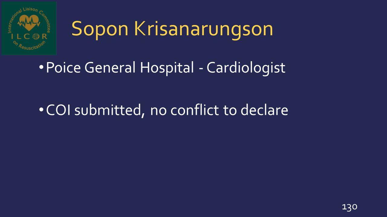 Sopon Krisanarungson Poice General Hospital - Cardiologist