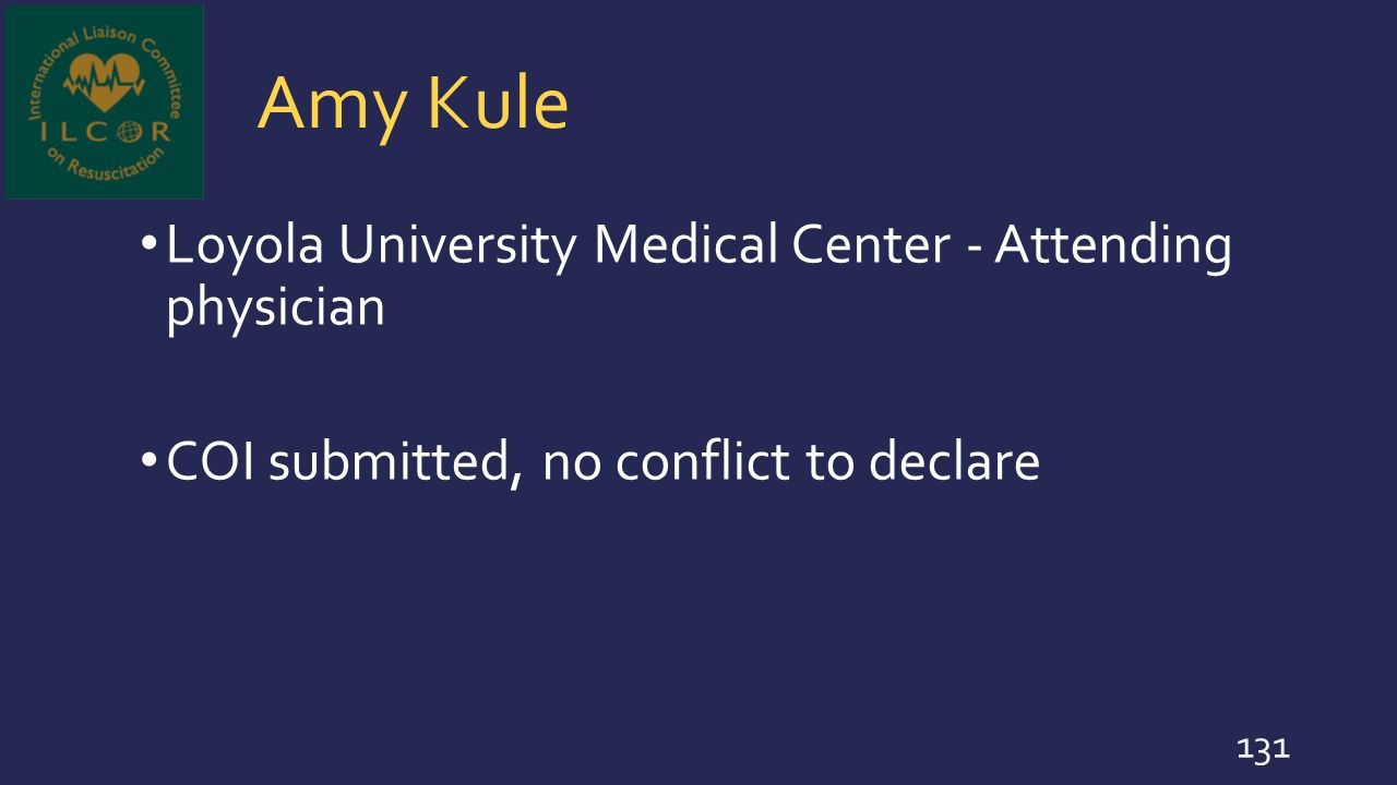 Amy Kule Loyola University Medical Center - Attending physician