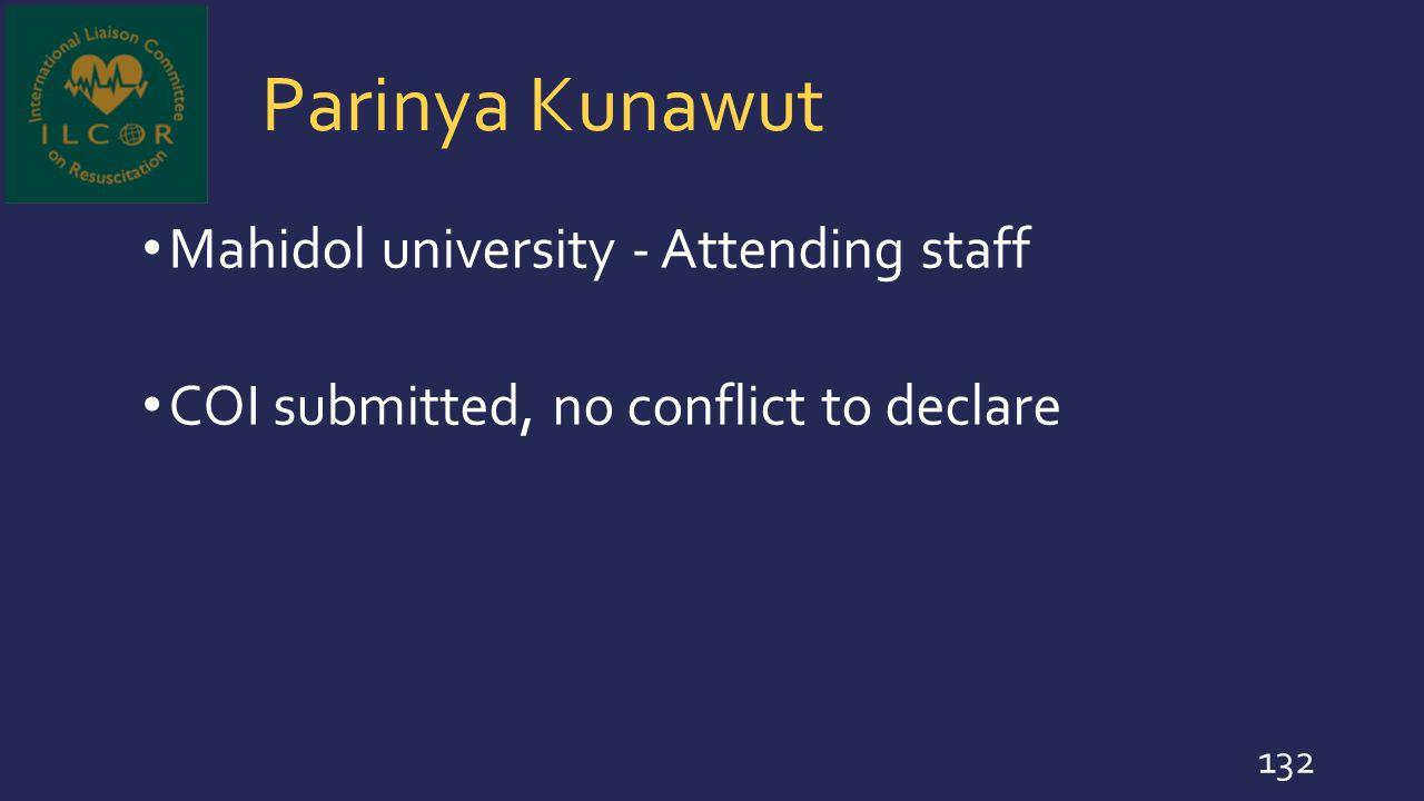 Parinya Kunawut Mahidol university - Attending staff