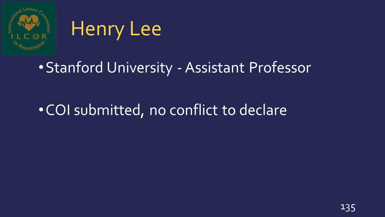 Henry Lee Stanford University - Assistant Professor