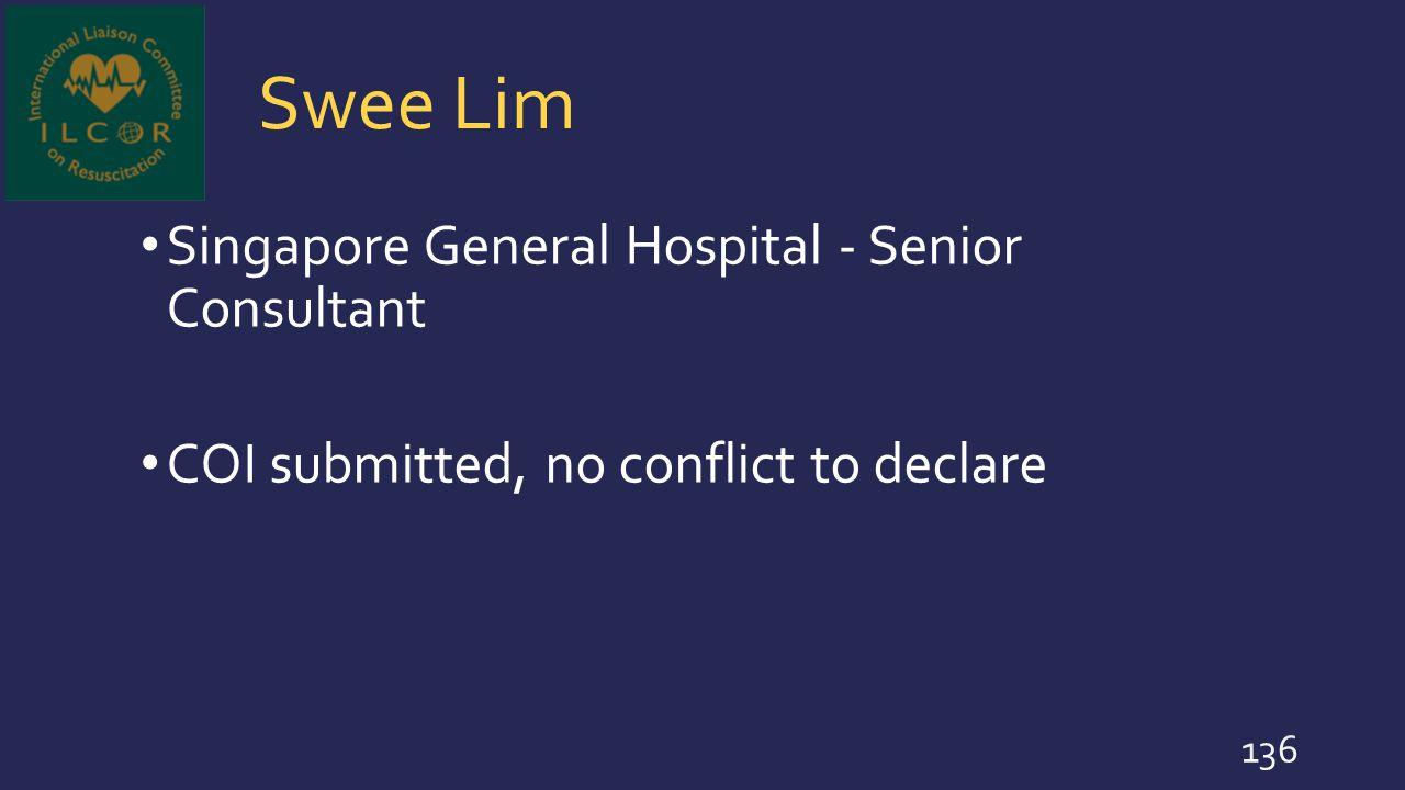 Swee Lim Singapore General Hospital - Senior Consultant