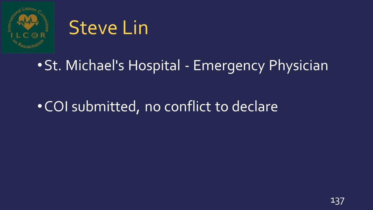 Steve Lin St. Michael s Hospital - Emergency Physician