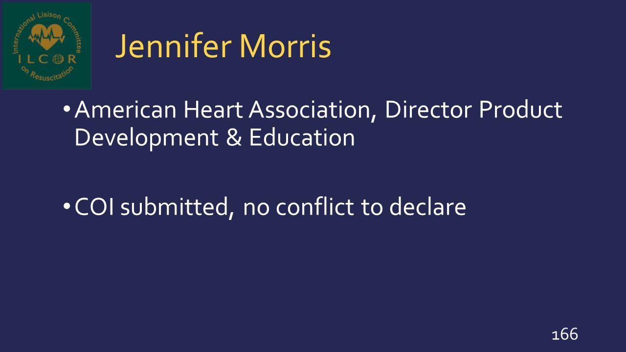 Jennifer Morris American Heart Association, Director Product Development & Education.