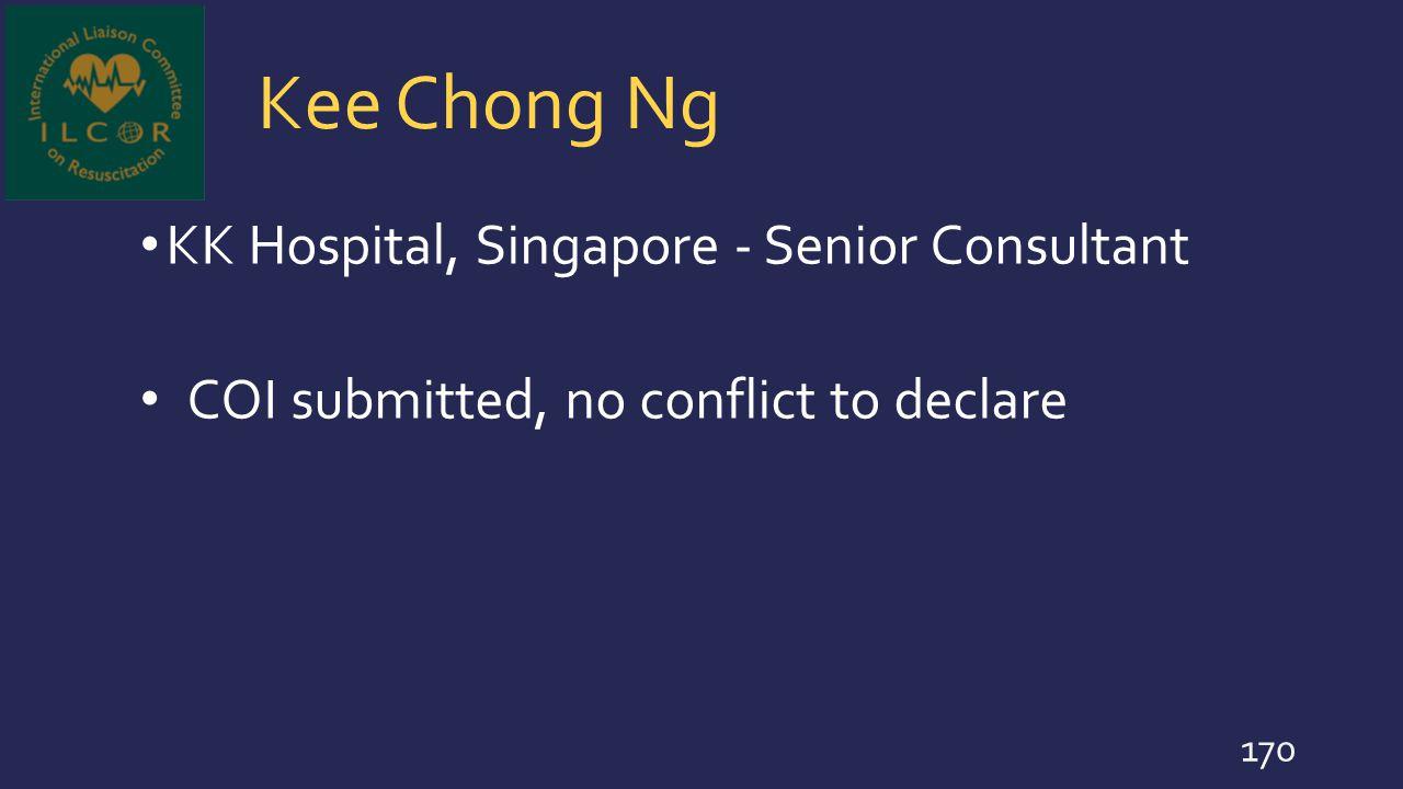 Kee Chong Ng KK Hospital, Singapore - Senior Consultant