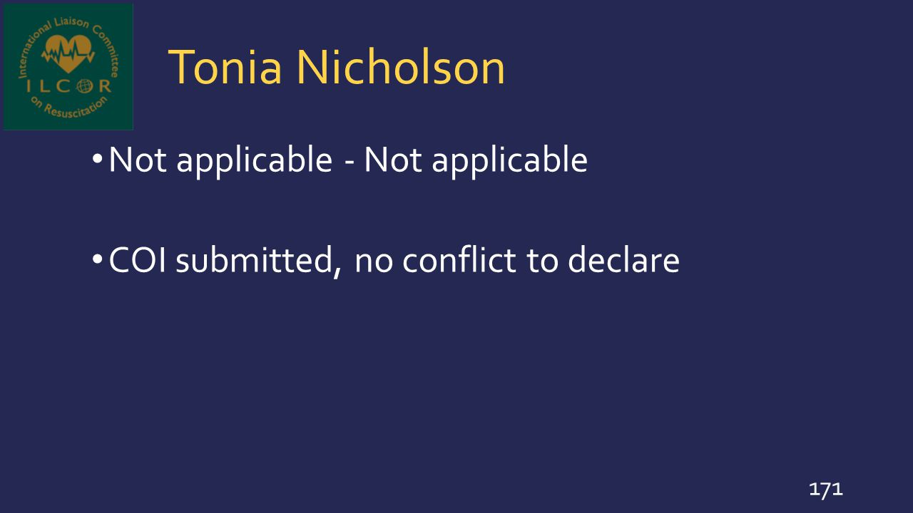Tonia Nicholson Not applicable - Not applicable