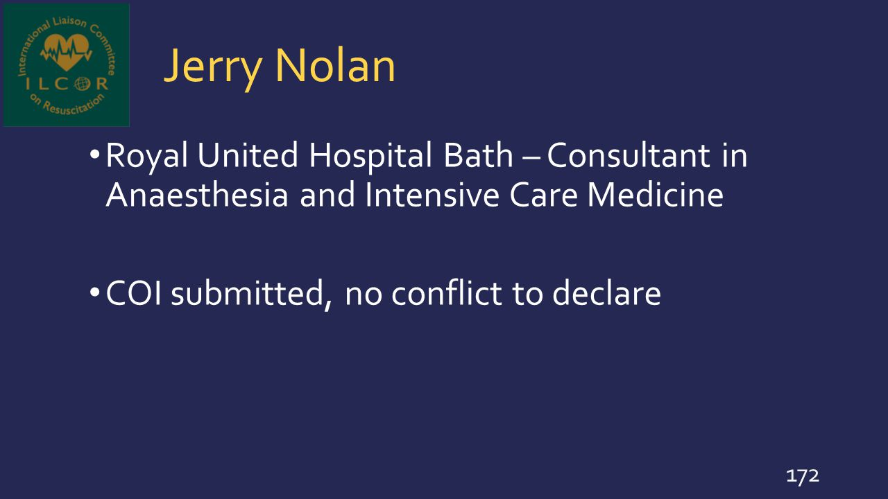 Jerry Nolan Royal United Hospital Bath – Consultant in Anaesthesia and Intensive Care Medicine.