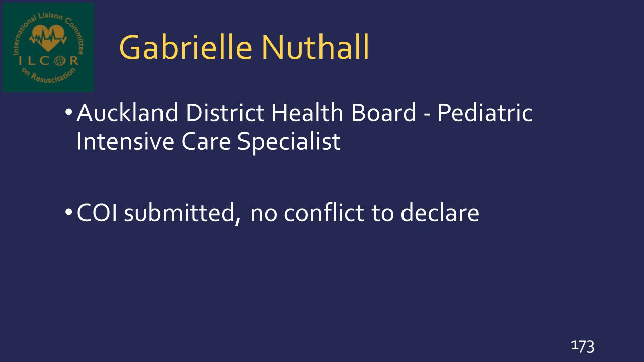Gabrielle Nuthall Auckland District Health Board - Pediatric Intensive Care Specialist.