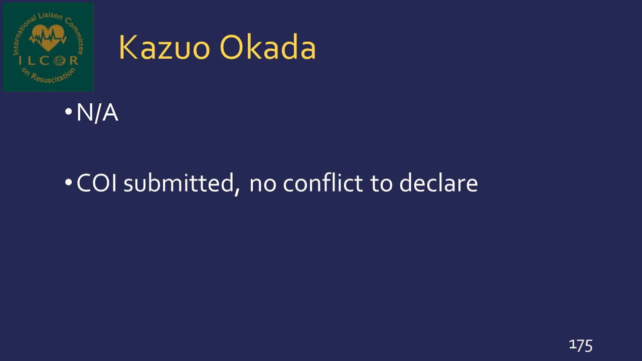 Kazuo Okada N/A COI submitted, no conflict to declare