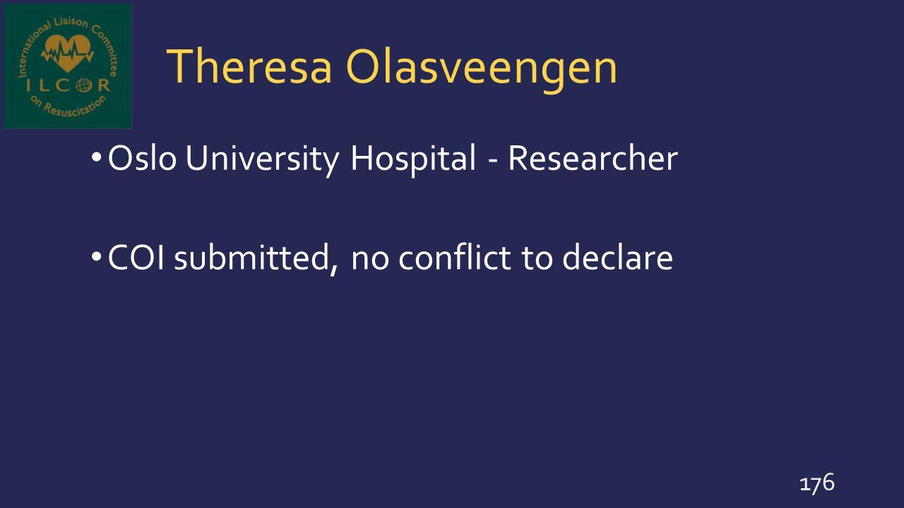 Theresa Olasveengen Oslo University Hospital - Researcher