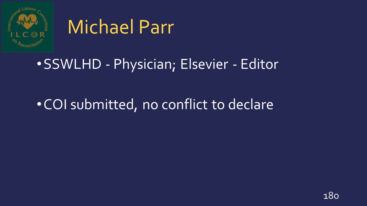 Michael Parr SSWLHD - Physician; Elsevier - Editor