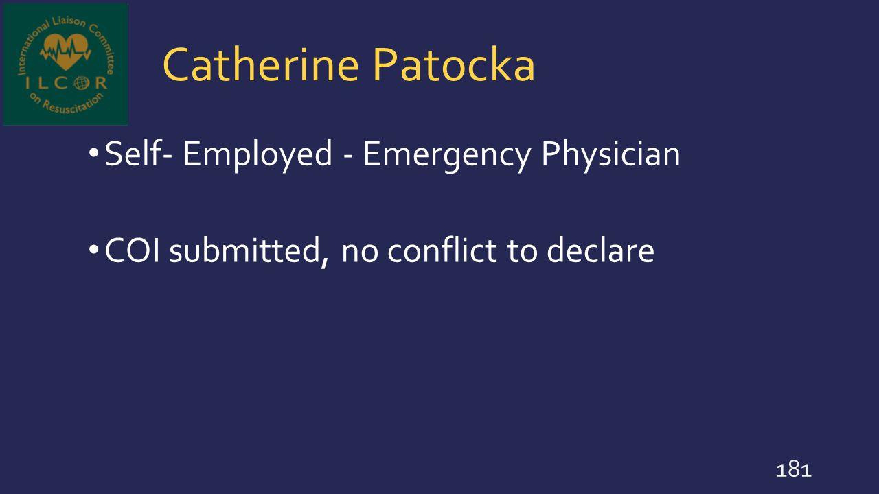 Catherine Patocka Self- Employed - Emergency Physician