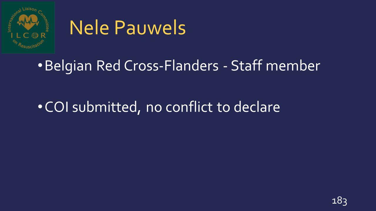 Nele Pauwels Belgian Red Cross-Flanders - Staff member