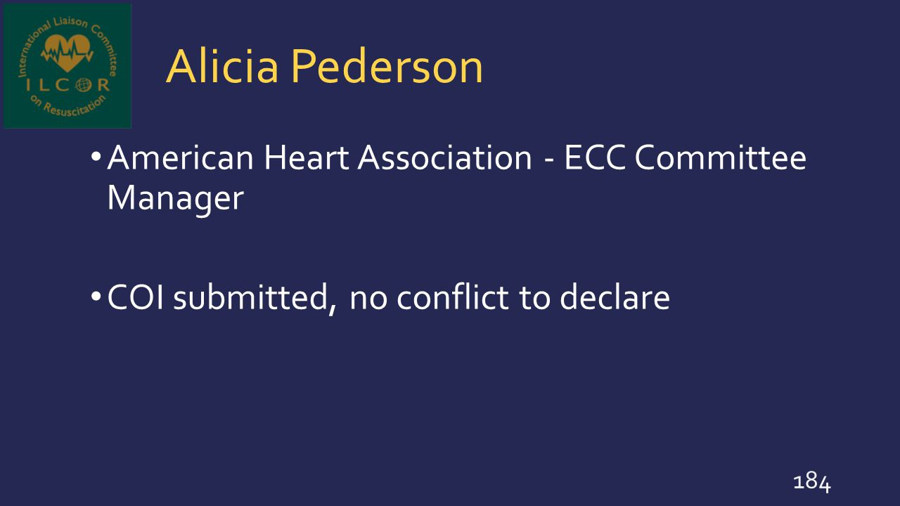 Alicia Pederson American Heart Association - ECC Committee Manager