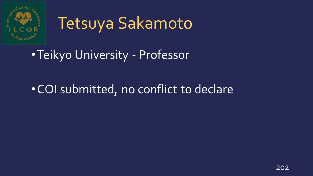 Tetsuya Sakamoto Teikyo University - Professor