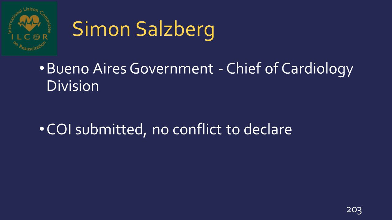 Simon Salzberg Bueno Aires Government - Chief of Cardiology Division