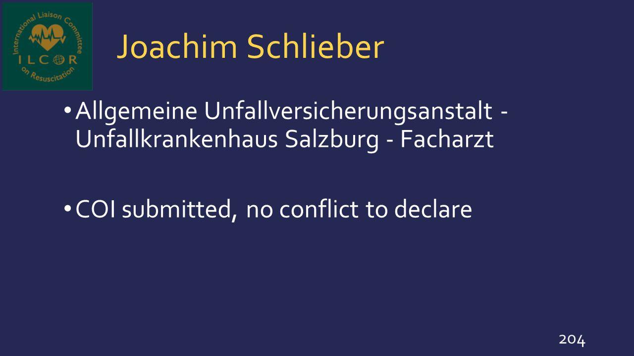 Joachim Schlieber Allgemeine Unfallversicherungsanstalt - Unfallkrankenhaus Salzburg - Facharzt.