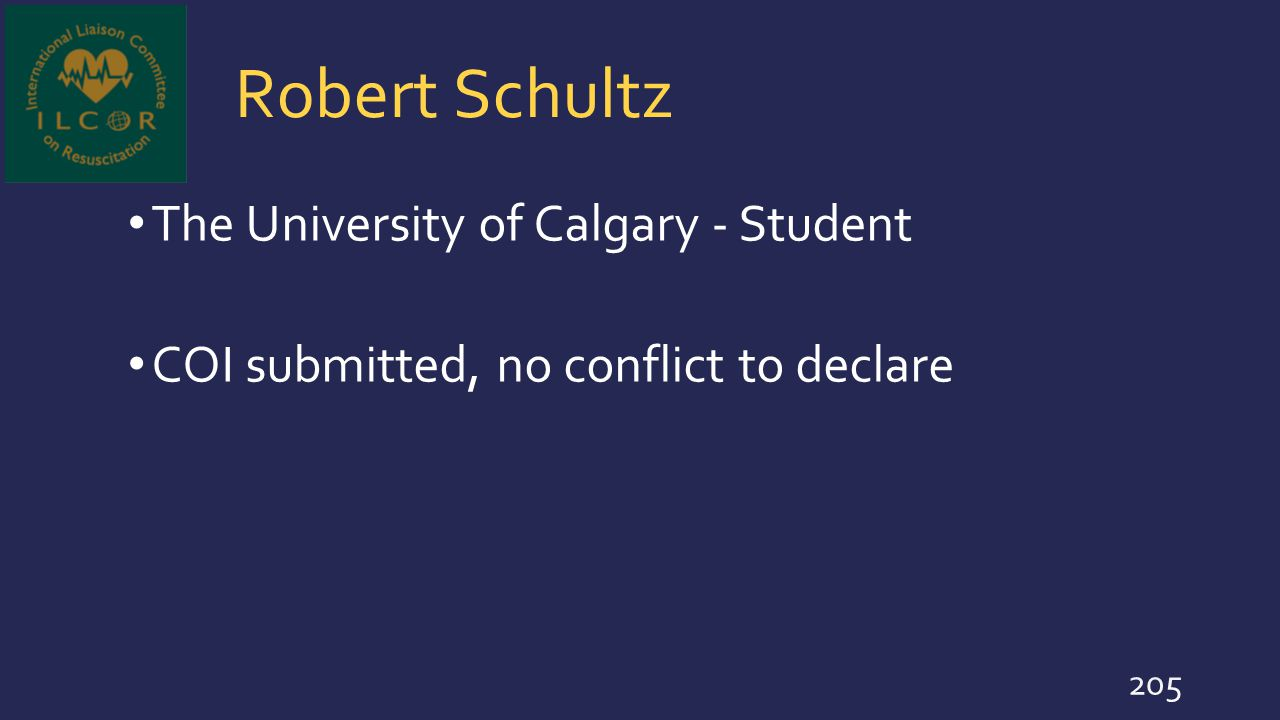 Robert Schultz The University of Calgary - Student