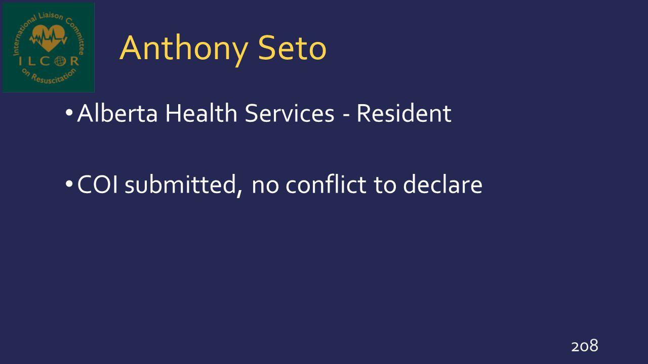 Anthony Seto Alberta Health Services - Resident