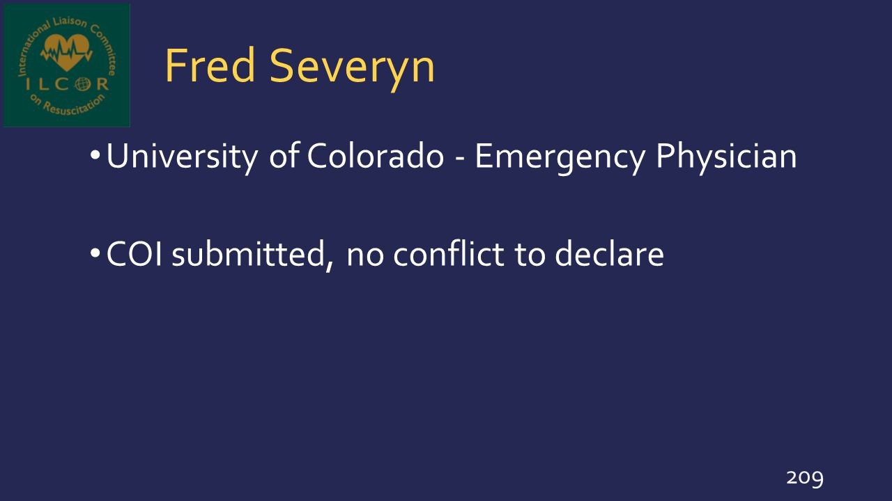 Fred Severyn University of Colorado - Emergency Physician