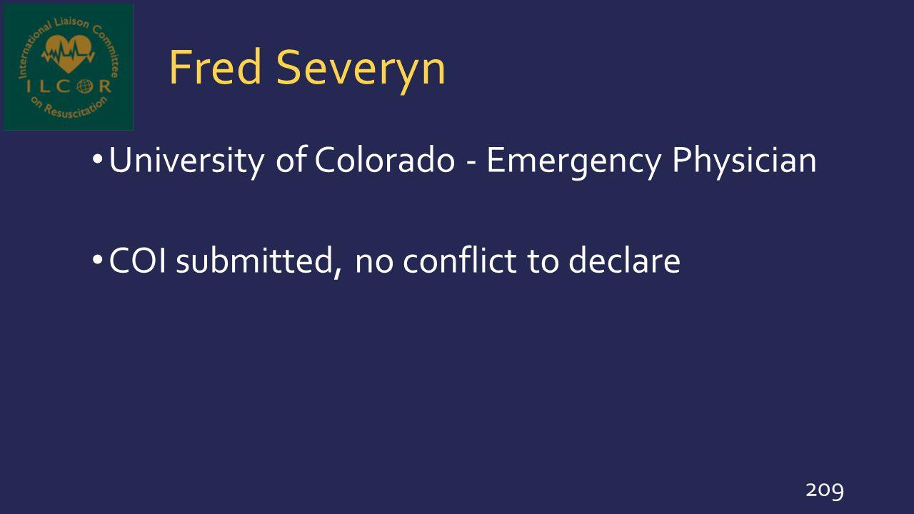 Fred Severyn University of Colorado - Emergency Physician