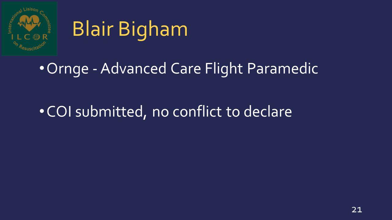 Blair Bigham Ornge - Advanced Care Flight Paramedic
