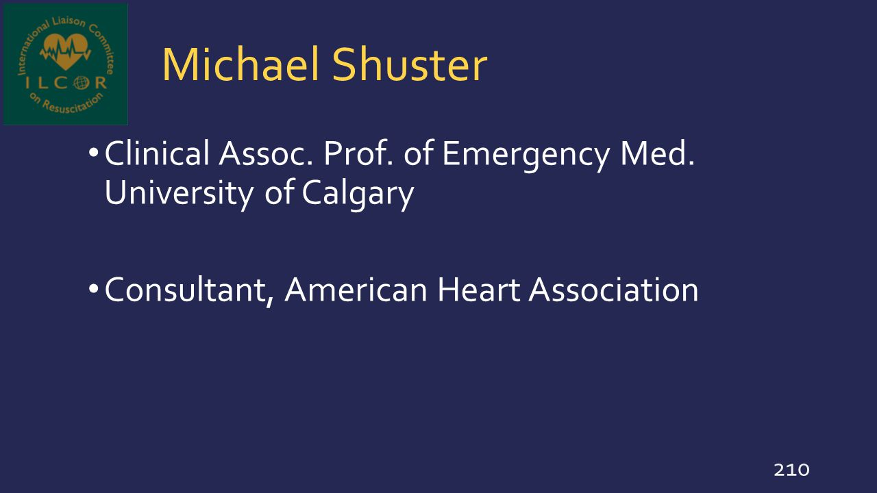 Michael Shuster Clinical Assoc. Prof. of Emergency Med.