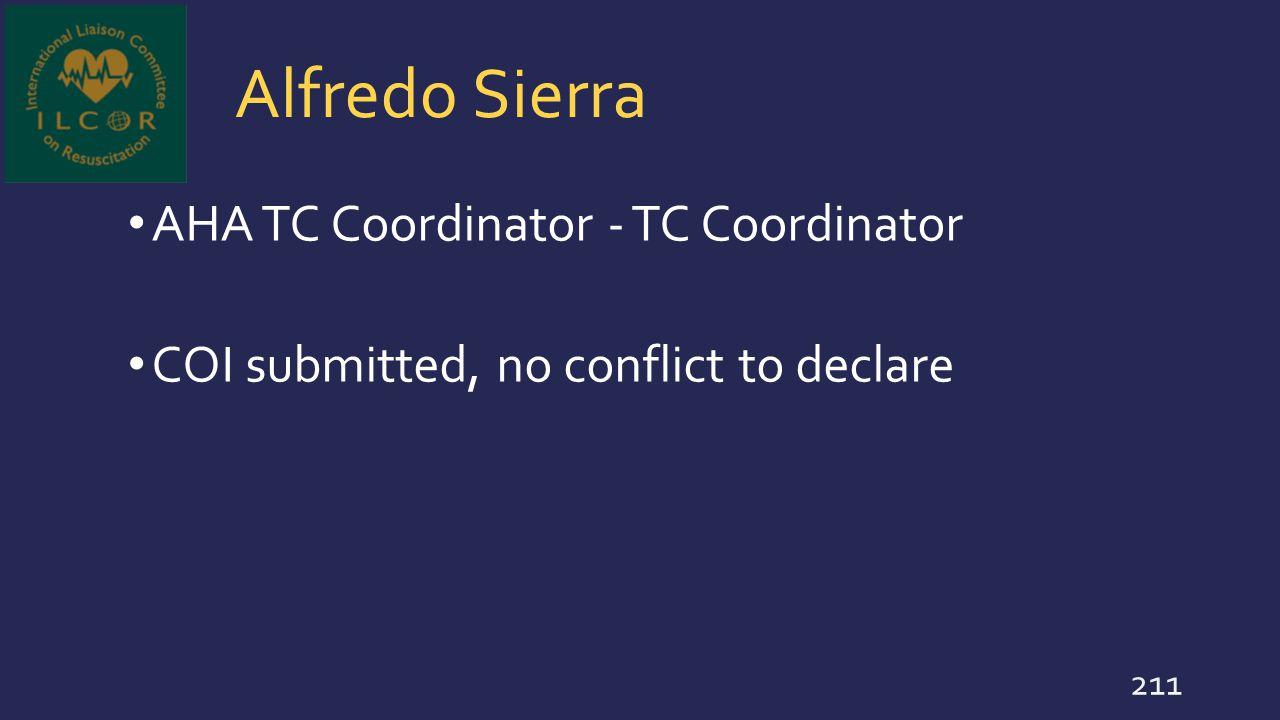 Alfredo Sierra AHA TC Coordinator - TC Coordinator