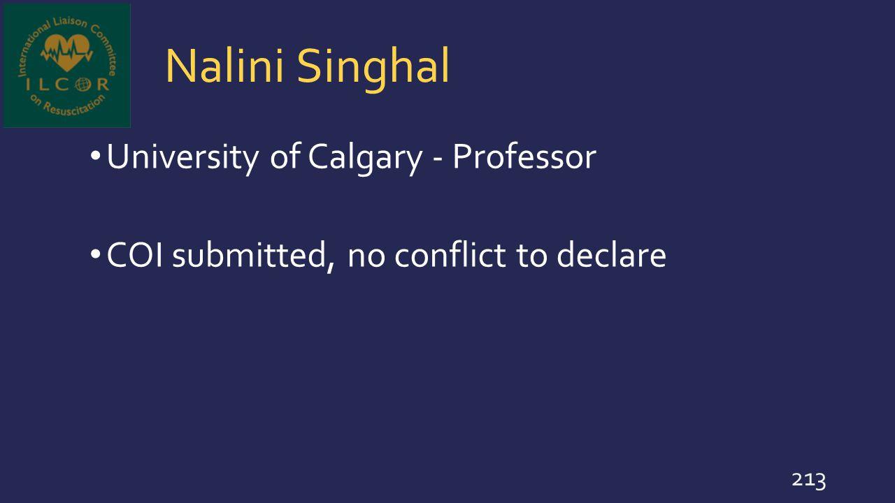 Nalini Singhal University of Calgary - Professor