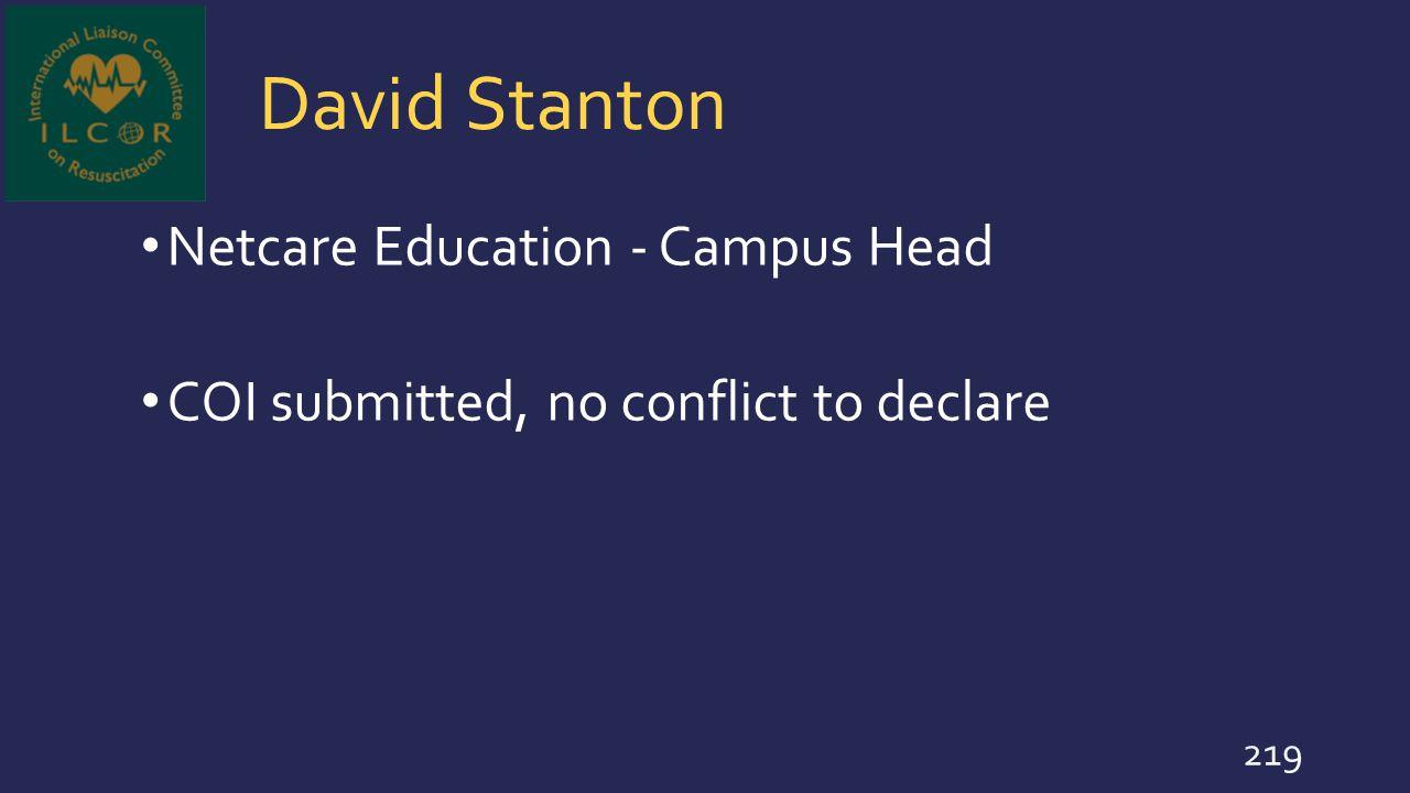 David Stanton Netcare Education - Campus Head