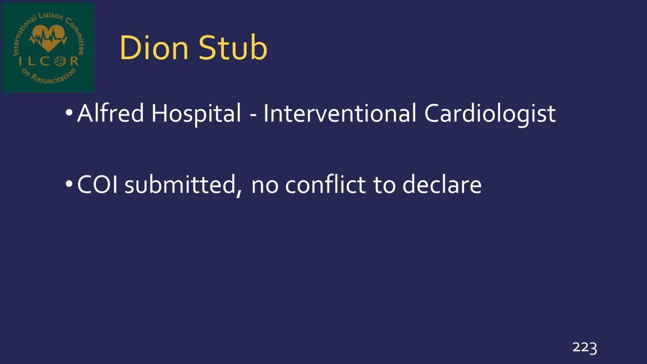 Dion Stub Alfred Hospital - Interventional Cardiologist