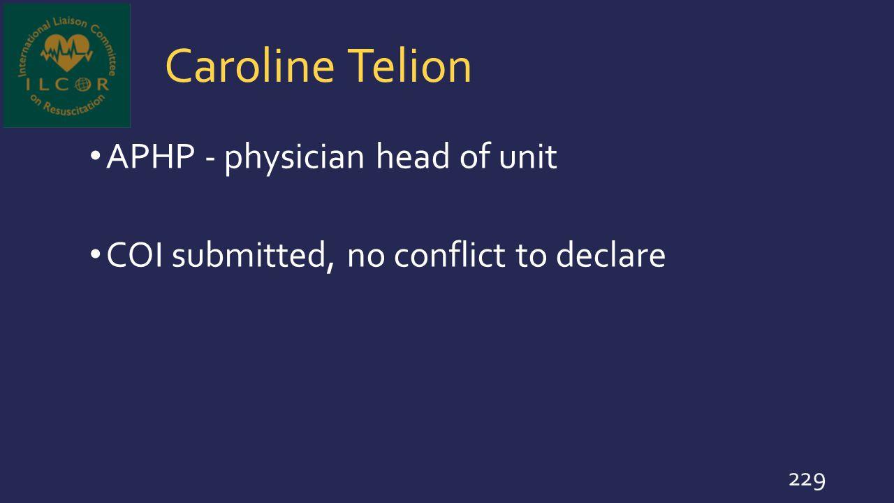 Caroline Telion APHP - physician head of unit