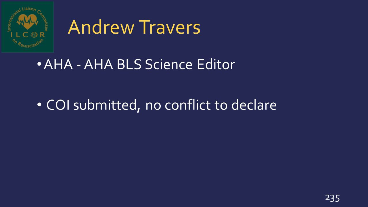 Andrew Travers AHA - AHA BLS Science Editor
