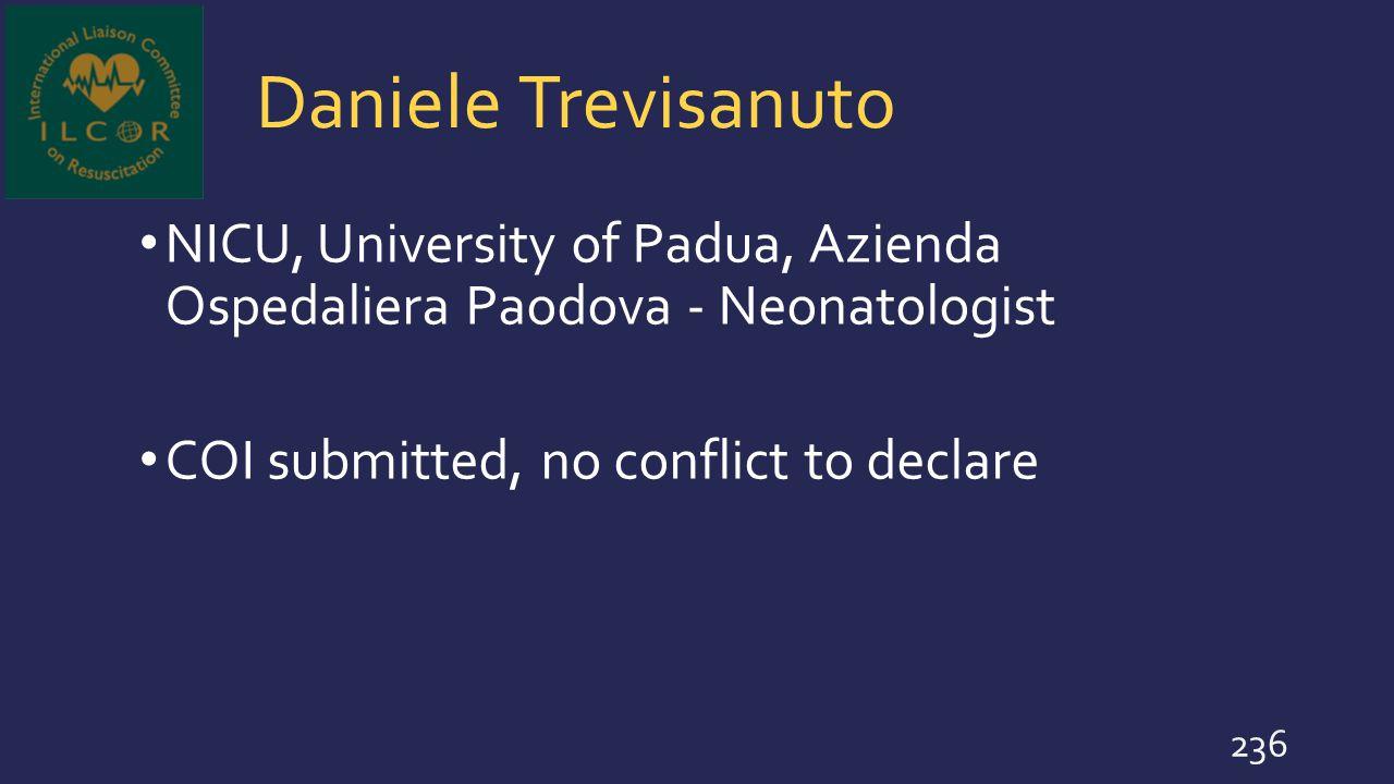 Daniele Trevisanuto NICU, University of Padua, Azienda Ospedaliera Paodova - Neonatologist.
