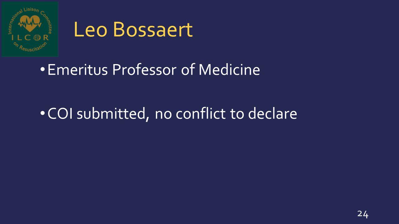 Leo Bossaert Emeritus Professor of Medicine