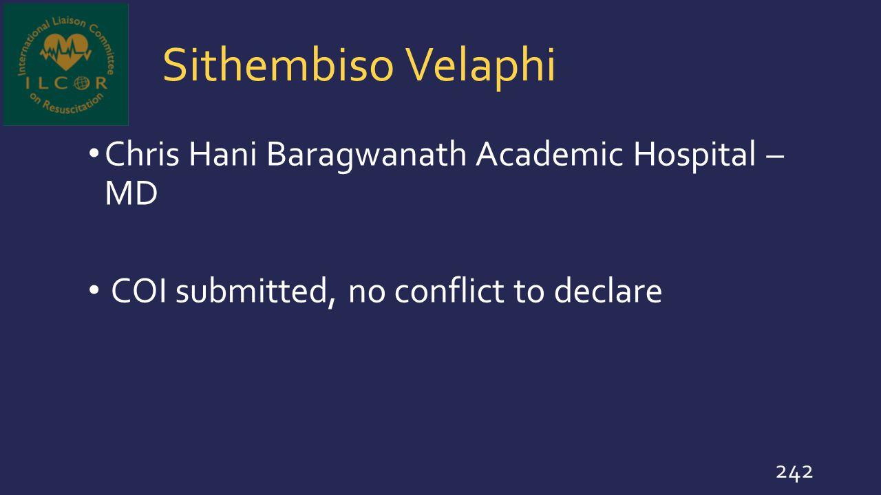 Sithembiso Velaphi Chris Hani Baragwanath Academic Hospital – MD