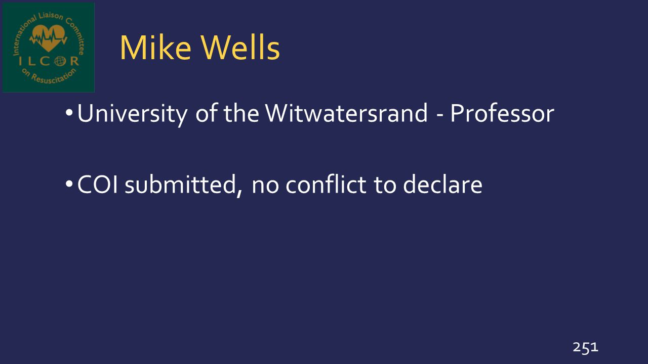 Mike Wells University of the Witwatersrand - Professor