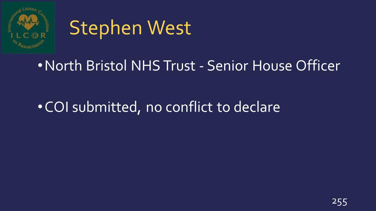 Stephen West North Bristol NHS Trust - Senior House Officer