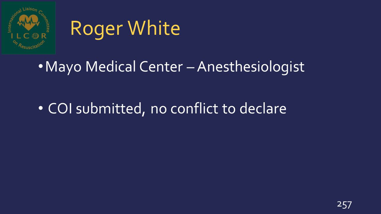 Roger White Mayo Medical Center – Anesthesiologist