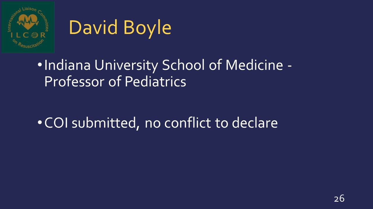 David Boyle Indiana University School of Medicine - Professor of Pediatrics.
