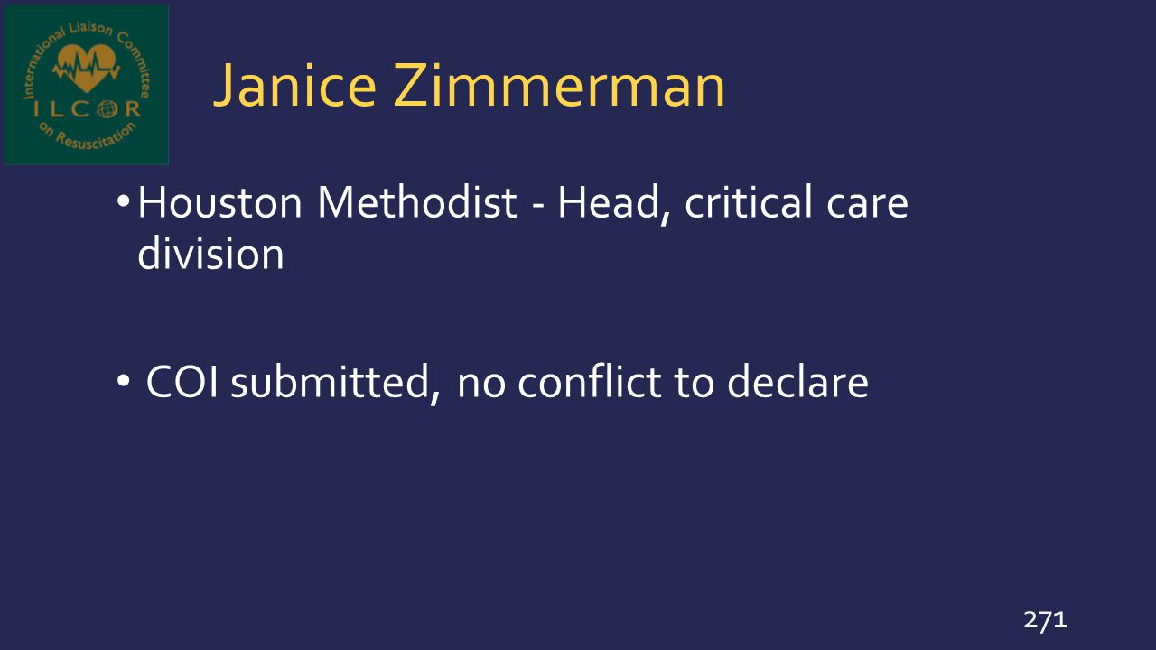 Janice Zimmerman Houston Methodist - Head, critical care division