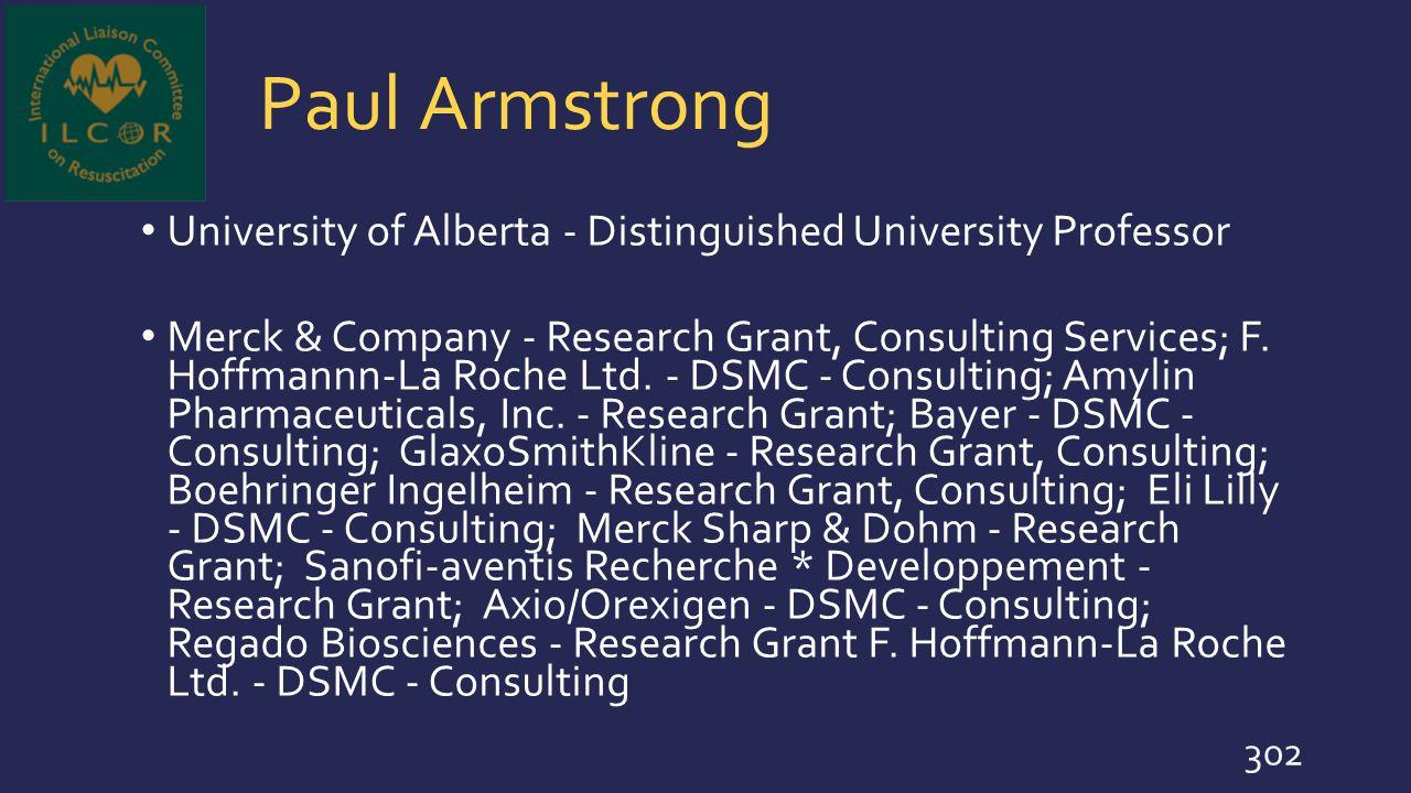 Paul Armstrong University of Alberta - Distinguished University Professor.